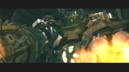 《机器侠》吴京这招太秀了吧,召唤了整个连的救兵,大干一场!