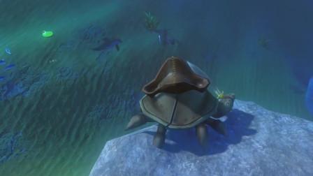 海底大猎杀:小海盗螃蟹打赢了两条海豚
