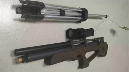 男子网上购买枪支零件,组装气步枪野外练枪法,还没装好就被抓了