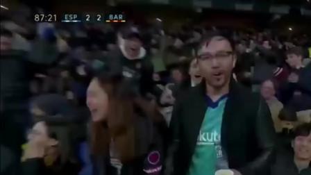 中国足球的英雄!看英文解说是怎么花式吹武磊的,中国骄傲绝平巴萨