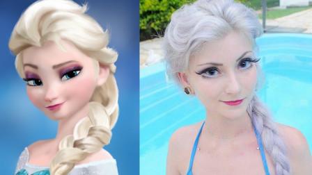 盘点现实中的4个真人芭比娃娃!冰雪奇缘艾莎公主穿越来了?