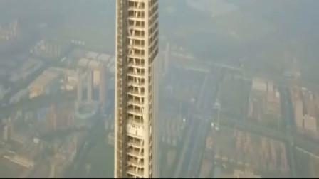 中国结构高度第一高楼,天津117大厦,看着好吓人