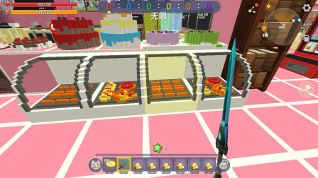 迷你世界:微缩模型制作的甜品店 蛋糕做的太像了 暗墨都想吃掉它