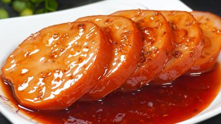 桂花糯米藕的家常做法,简单美味,出锅软糯香甜,全家都爱吃
