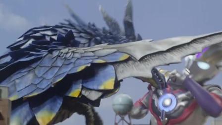 奥特曼:欧布初次变身,对上风魔兽魔格巴萨,战斗画面十分帅气!