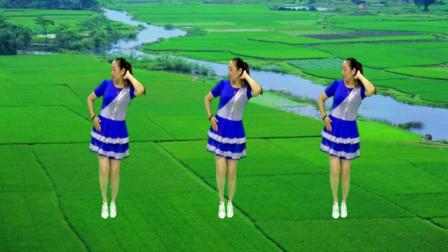 青春洋溢广场舞《我的爱》活力舞步 好看易学 真不错