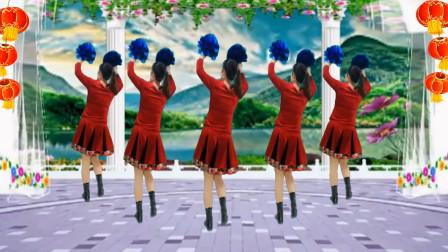 健康一生广场舞 新年特献《欢乐中国年》背面 歌醉舞美 喜庆欢快 祝你新年快乐