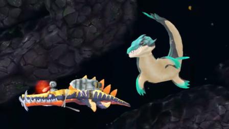 饥饿鲨进化:滑齿龙鲨鱼,会被新出来的蛟龙鲨一口吃掉吗?
