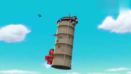 其实汪汪队一切狗狗都有飞行装备,在天空张开网子救谷薇市长