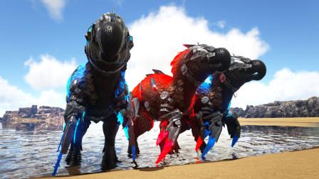 方舟生存进化 普罗米08 汇集三只渡渡霸王龙 准备进化不同形态