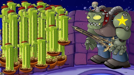 当巨人僵尸拿着新型武器朝花园屋顶攻击,仙人掌:我来给你教训你一下