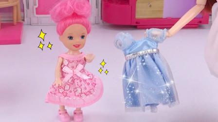 芭比剧场:女儿没有过年穿的新衣服?妈妈瞬间拿出2件连衣裙