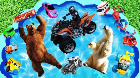 孩子们的玩具早教启蒙乐园:拖拉机、海马、赛车、瓢虫、章鱼、直升机!