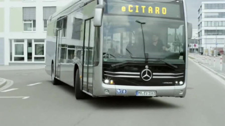 奔驰新款公交车,纯电动的巴士零排放无污染