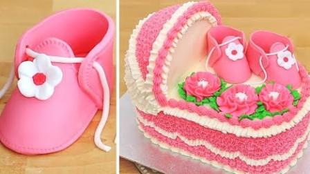 """国外烘培达人把蛋糕做成了""""婴儿床""""的造型,真是太有才了"""