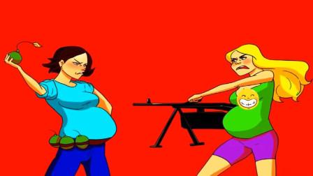 脑力测试:正在决斗的两名孕妇中,谁是幸存者?谁会死?