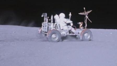 宇航员驾驶月球车在月球表面高速奔驰,扩大了宇航员活动范围