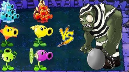 植物大战僵尸:全部豌豆射手 vs 囚犯僵尸巨人