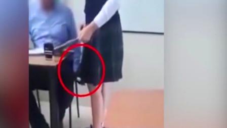 男老师把女学生叫到办公室补课,不料被学生录下视频,监控曝光太恶心!