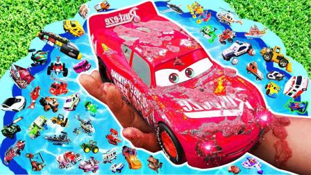 孩子的玩具早教启蒙乐园:赛车、消防车、闪电麦昆、救护车!