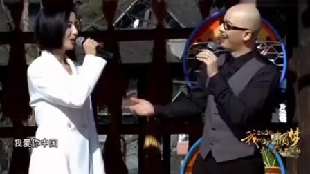 平安、佟丽娅一首《我爱你中国》,歌声豪情万丈,惊艳全场