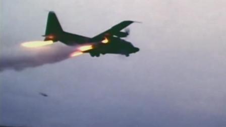 C130运输机火箭助推起飞火箭反推短距降落