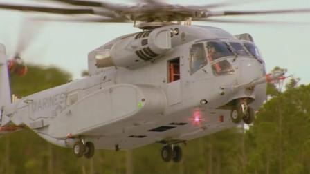 美国CH-53K种马王最大起飞质量44吨,美军最大直升机