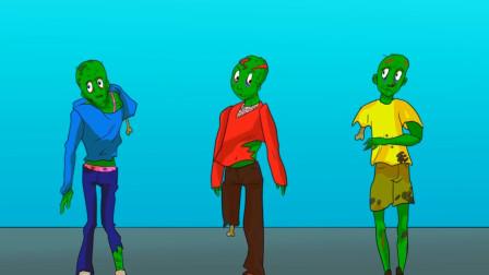 推理动画:哪一个僵尸是人类假扮的?