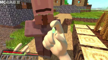 我的世界动画-真人史蒂夫来到村子里-Quasar