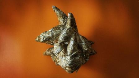 风之伊:用泡沫制作七龙珠孙悟空胸像,烧焦的大脑袋