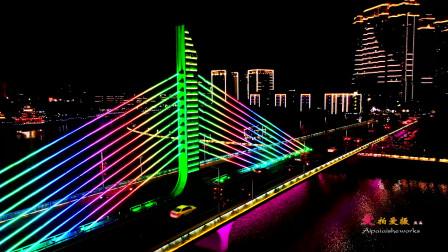 2020新年之际,航拍魅力厦门岛外银城同安夜景,祝愿大家春节快乐