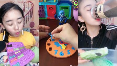 美女小姐姐直播吃果冻创意小骨头、超级甜的小脆瓜,入口嘎嘣脆是我小时候的向往