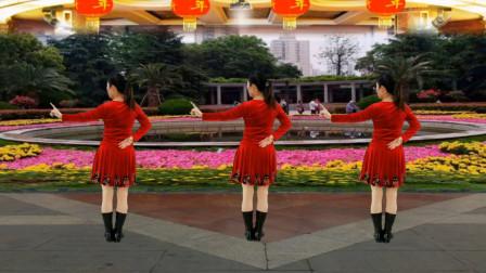 健康一生广场舞《鼠年大吉》背面 新年贺岁舞蹈 简单好看