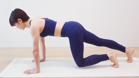 两种板式支撑四个经典动作,日本小姐姐教你练腹肌,准确又专业