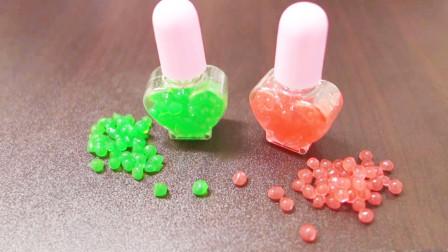 """果冻液从吸管里滴出,滴一下就变成一个""""爆爆蛋"""",太逗了!"""