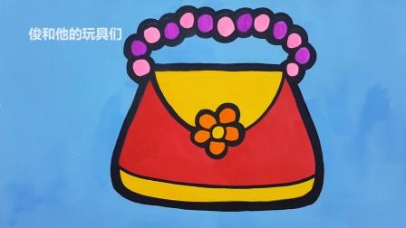 绘画和着色钱包手提包绘画染色