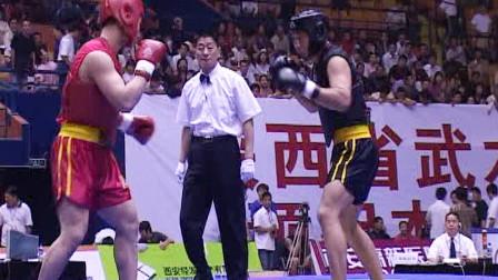 第十届全运会男子武术散打预赛 07单元 010 男子87.5kg 王刚(火车头)VS 那顺格日勒(陕西)0:优胜