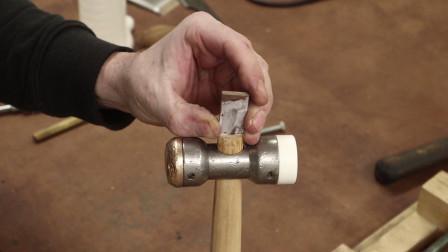 修复一把锤子,满满的沧桑感,这就是安装锤
