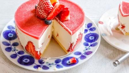 草莓????慕斯蛋糕0⃣️难度超好吃的甜品cake