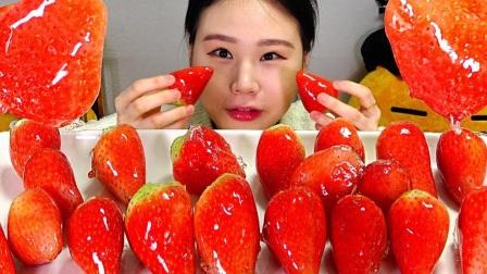 【Fran卡妹】 糖葫芦草莓+mini巧克力黄油饼干