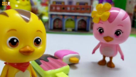 《萌鸡小队》小故事,大雪糕和小雪糕,谁知道怎么分呢?