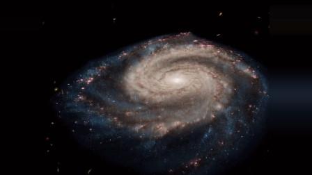 飞掠涡状星系M51,距离地球约2500万光年