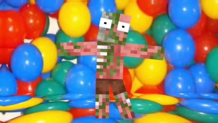 我的世界动画-怪物学院-吃汉堡买玩具-Pivo