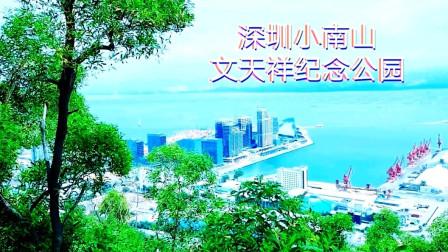 爬上深圳南山文天祥纪念公园,鸟瞰蛇口码头风光,风景太美了