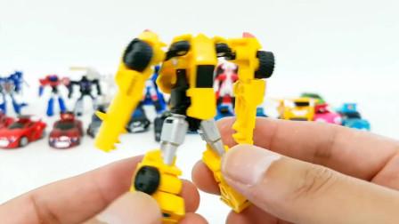 迷你变形金刚汽车飞机组装变形机器人玩具
