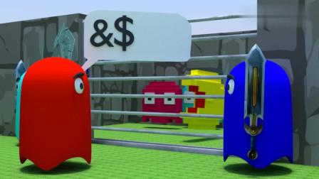 吃豆人VS铁链吃豆人:营救2D版吃豆人,精彩视频
