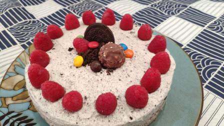 奥利奥奶油蛋糕 可可味蛋糕搭配奥利奥咸奶油 惊艳味蕾的下午茶点