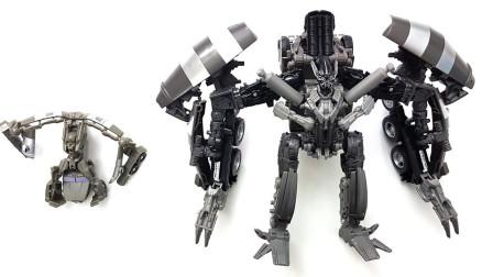 混凝土运输车变形金刚机器人展示