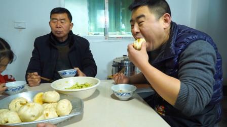 萝卜猪肉3斤面,小厨起早蒸包子,大锅包子配稀饭两口一个