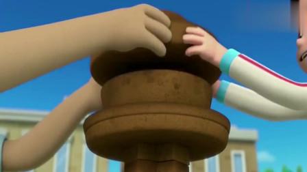 汪汪队立大功:波特先生以瞭望台为模型,做了个漂亮的翻糖蛋糕